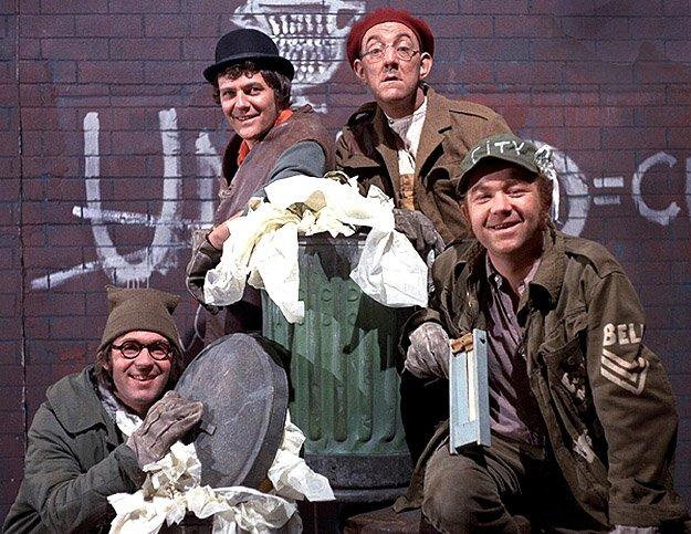 The Dustbinmen tv sitcom Seriale komediowe